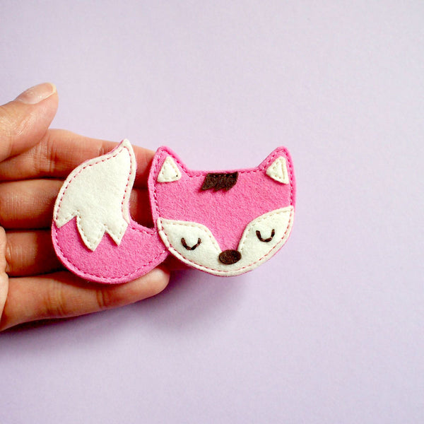 Felt Pin Brooch - Fantastic Fox (Blush)