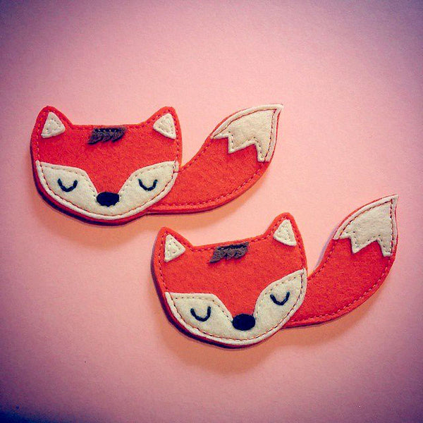 Felt Pin Brooch - Fantastic Fox (Tangy)