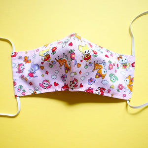 Face Mask (Pocket Insert) - Vintage Kawaii Wonderland (Pink)