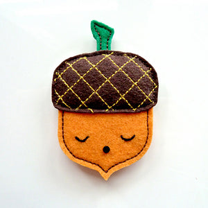 Felt Pin Brooch - Mighty Acorn (3 Colors)