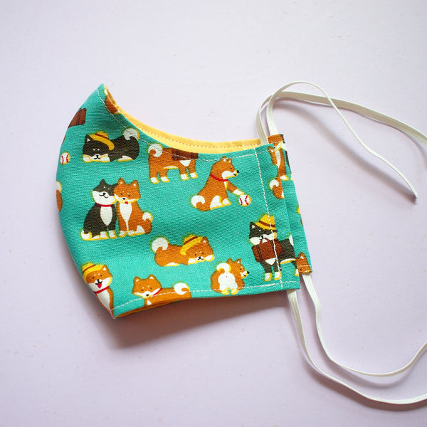 Face Mask (Pocket Insert) - Shiba Inu's Day Out