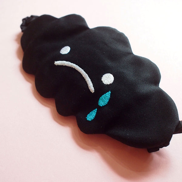 Sleep Eye Mask - Sad Dark Cloud (2 Colors)