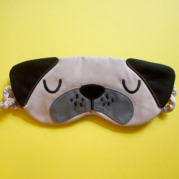 Sleep Eye Mask - Pudgy Pug (2 Colors)