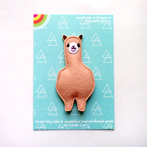 Felt Pin Brooch - Amigo Alpaca (4 Colors)