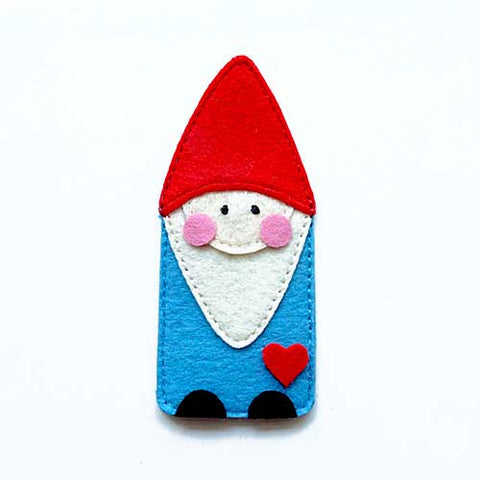 Felt Pin Brooch - Bashful Gnome I