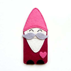 Felt Pin Brooch - Moustache Gnome I