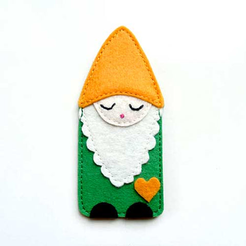 Felt Pin Brooch - Smiling Mellow Gnome I