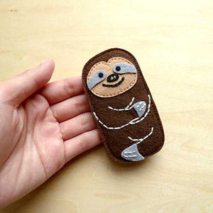 Felt Pin Brooch - Slothful Sloths (3 Colors)