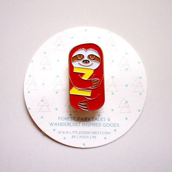 Enamel Pin Brooch - Slothful Sloth (2 Colors)