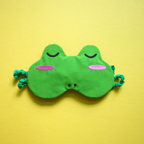 Sleep Eye Mask - Green Frog