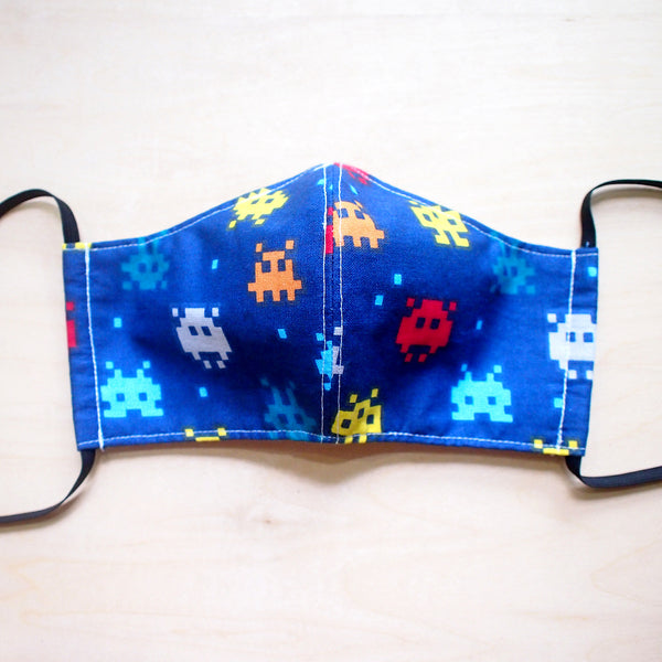 Face Mask (Pocket Insert) - 8-Bit Space Invaders