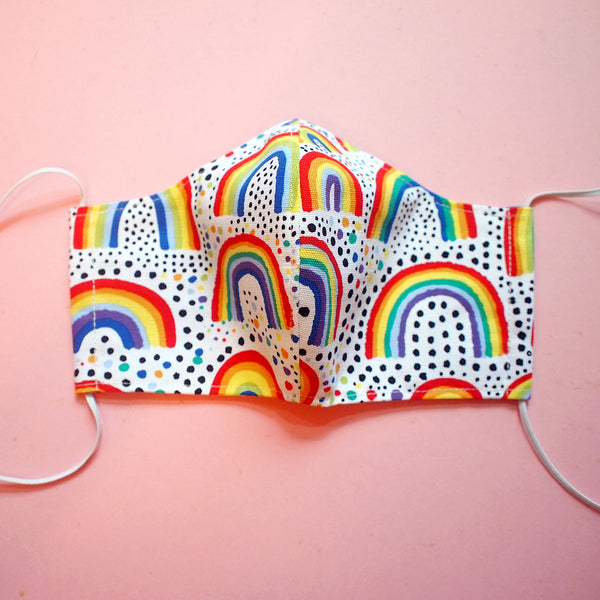 Face Mask (Pocket Insert) ADULTS - Painting Rainbows