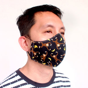 Face Mask (Pocket Insert) ADULTS - Monkey Bananas