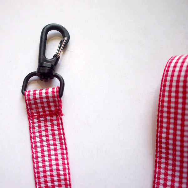 Face Mask Strap - Gingham (Red)