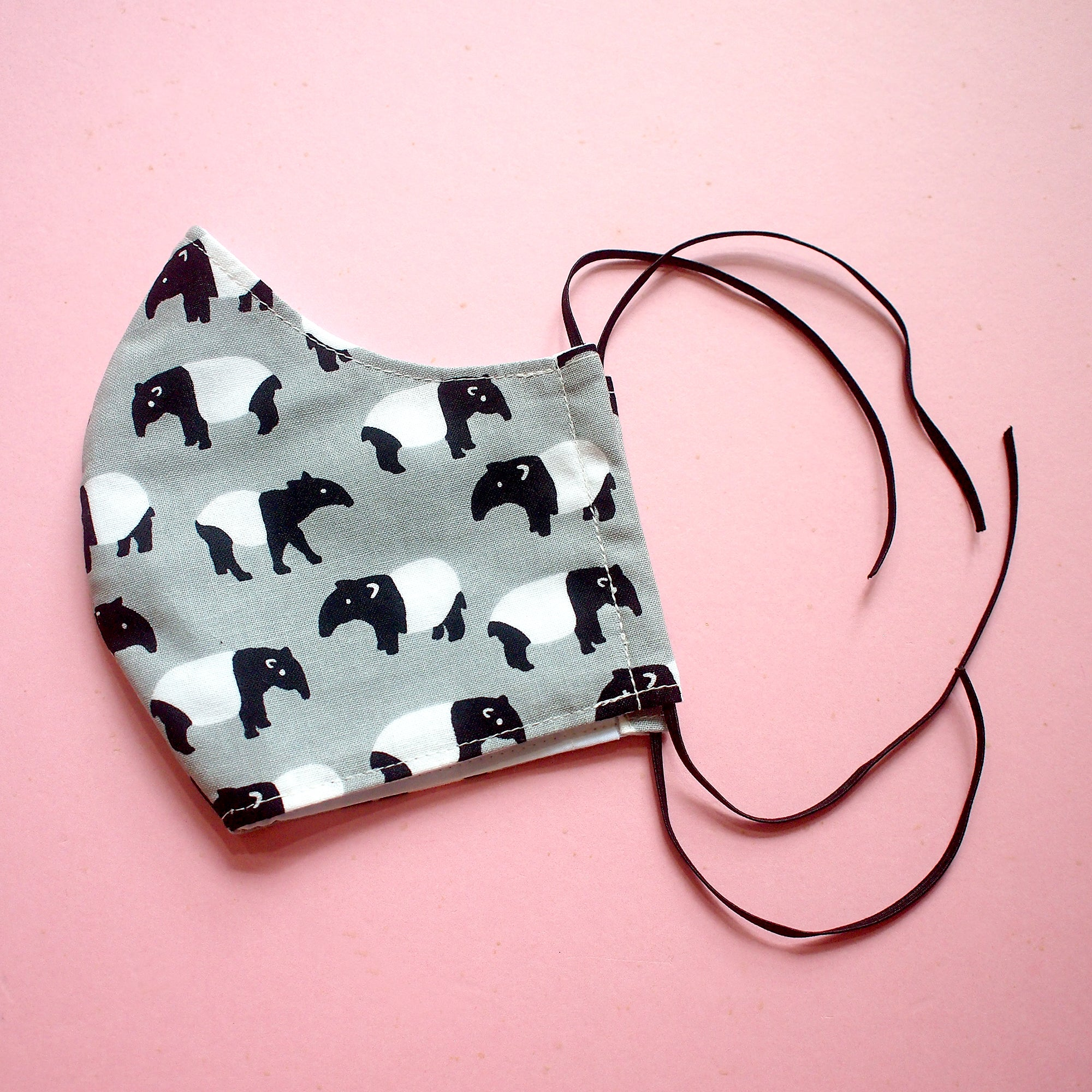 Face Mask (Pocket Insert) - Malayan Tapir (Gray)