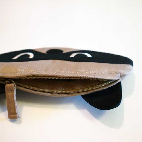 Zip Pouch - Bandit Raccoon (3 Colors)