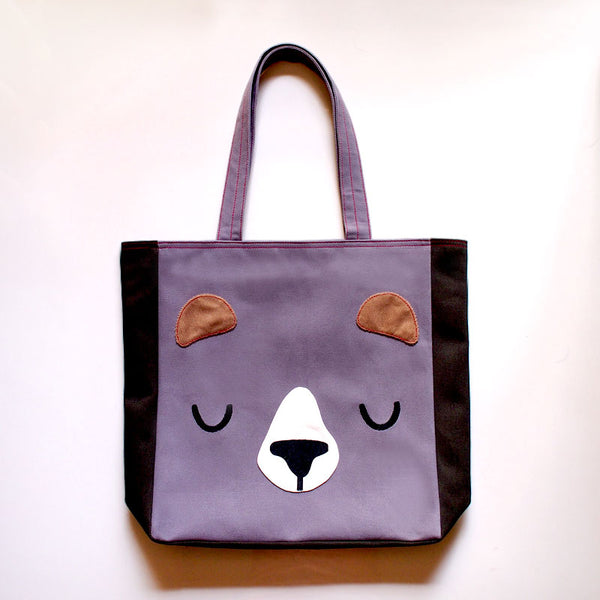 Carryall Tote Bag - Forest Honey Bear (3 Colors)