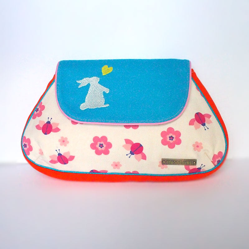 Clutch Purse - Little Bunny Love (Vintage Ladybird)