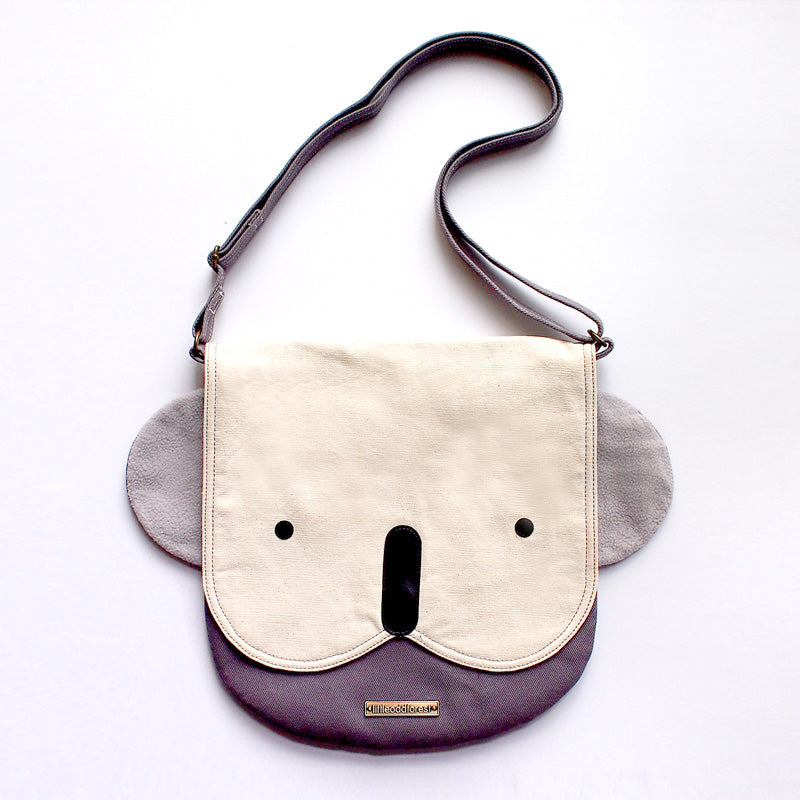 Crossbody Sling Bag - Kooky Koala (Ivory Gray)