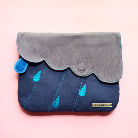 Clutch Purse - Cloudy Days (Dark Blue Gray)