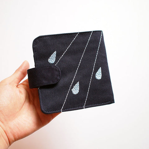 Bifold Billfold Card Wallet - Cloudy Days (Dark Blue)