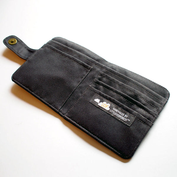 Bifold Billfold Card Wallet - Cloudy Days (Dark Gray)