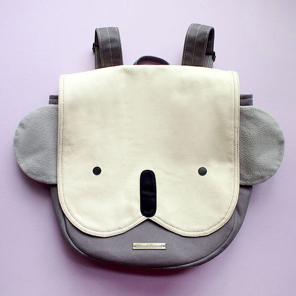 Backpack - Kooky Koala (Ivory Gray)