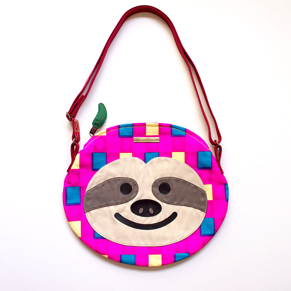 Crossbody Sling Bag - Slothful Sloth (Vintage Retro Blocks)
