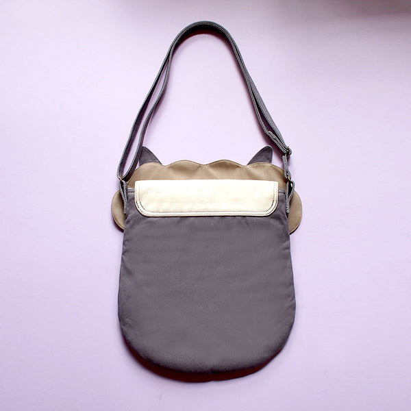 Crossbody Sling Bag - Alpaca Amigo (Winter Gray)