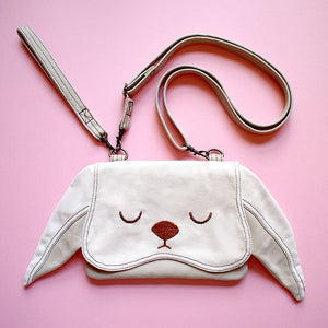 Convertible Crossbody-Wristlet-Wallet - Chubby Bunny (Cream)