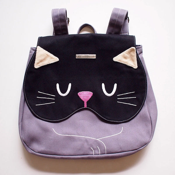 Backpack - Forest Kitty Cat (Black)