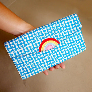 Long Wallet - Over The Rainbow (Vintage Blue Knit)
