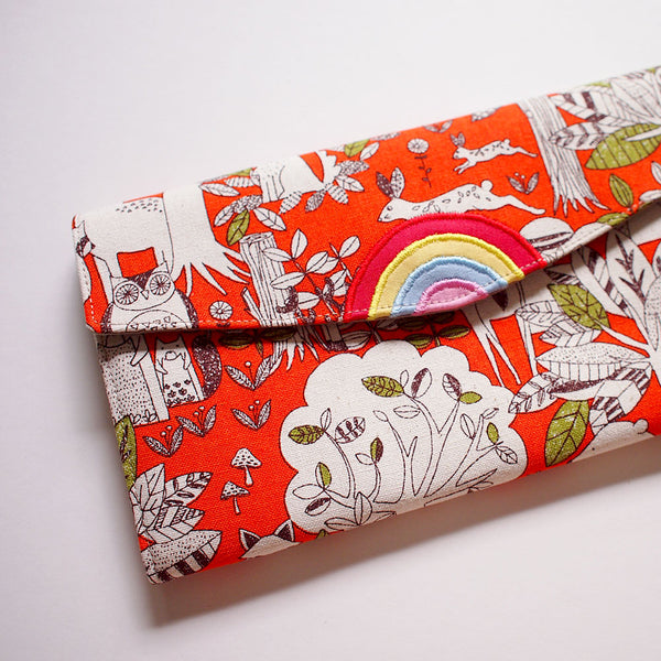 Long Wallet - Over The Rainbow (Animals In The Woods) Orange