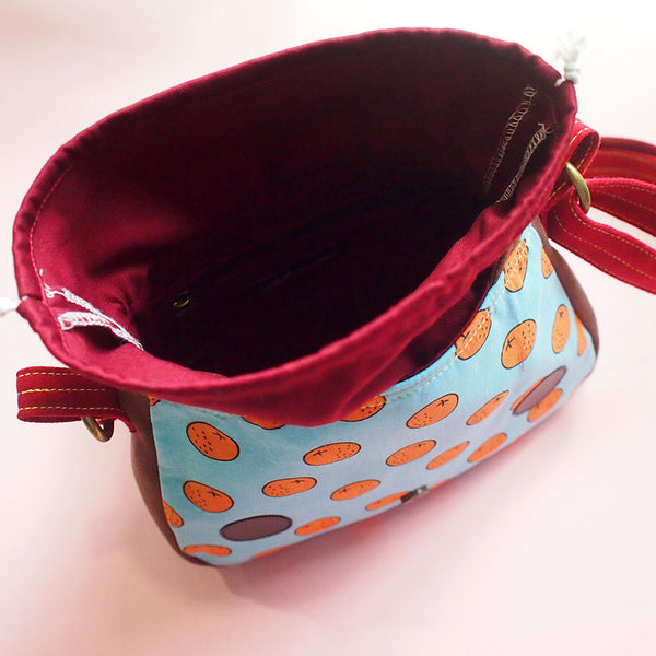 Crossbody Sling Bag - Nutkin Squirrel (Tangy Oranges)