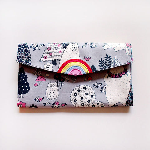 Long Wallet - Over The Rainbow (Bears In The Forest) Gray