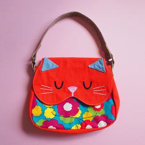 Handbag - Forest Kitty Cat (Psychedelic Mungo Blooms)