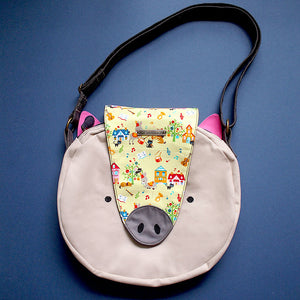 Crossbody Bag - Oink Oink Pig (Musicians of Breman) Green
