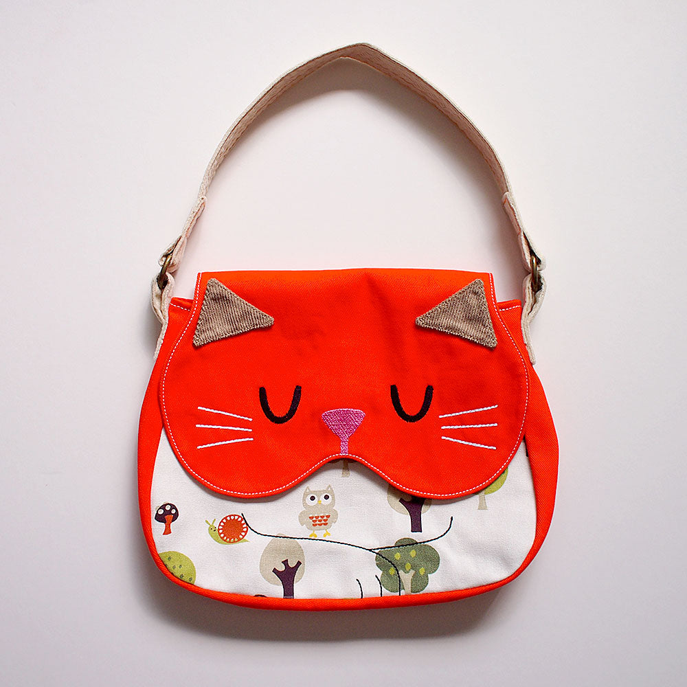 Handbag - Forest Kitty Cat (Woodland Owls)
