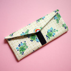 Utensils Pouch (2 Compartments) - Over The Rainbow (Picnic Greens)