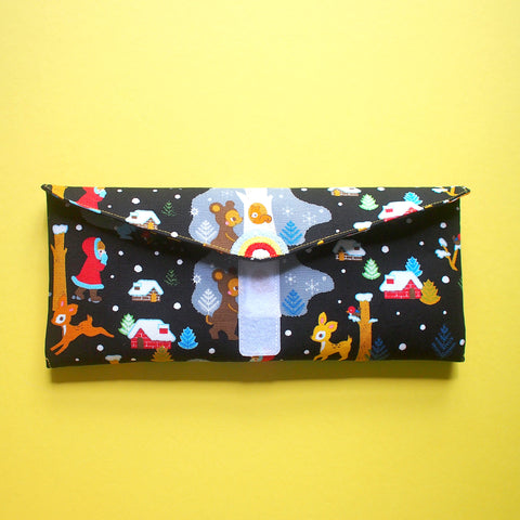Utensils Pouch (2 Compartments) - Over The Rainbow (Fairytale Winter) BLK