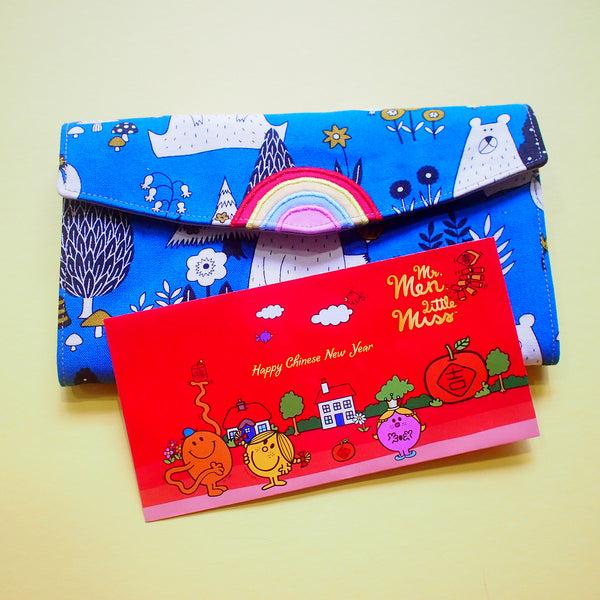 Long Wallet - Over The Rainbow (Bears In The Forest) Blue