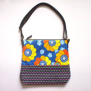 Crossbody Zip Bag - Over The Rainbow (Vintage Mungo Blooms)