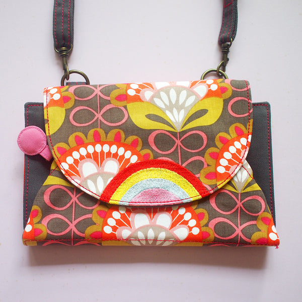 Crossbody-Clutch-Wallet - Over The Rainbow (Floral Motif)