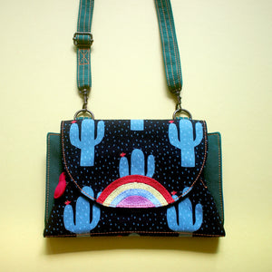Crossbody-Clutch-Wallet - Over The Rainbow (Desert Cactus)