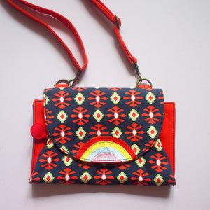 Crossbody-Clutch-Wallet - Over The Rainbow (African Motifs I)