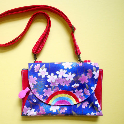 Crossbody-Clutch-Wallet - Over The Rainbow (Cherry Blossoms I)