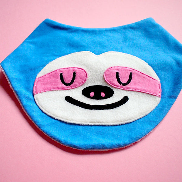 Bandana Drool Bib - Slothful Sloth (4 Colors)
