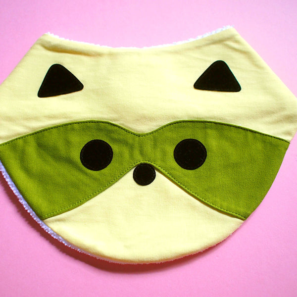 Bandana Drool Bib - Bandit Raccoon (6 Colors)