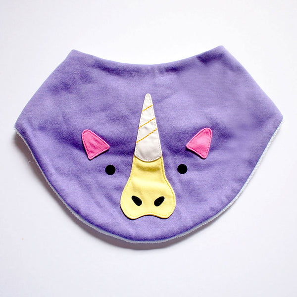 Bandana Drool Bib - Magical Unicorn (7 Colors)