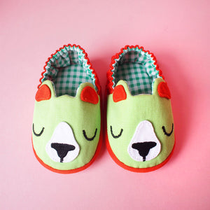 Baby Booties - Forest Honey Bear #01